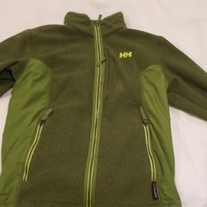 Green mens fleece